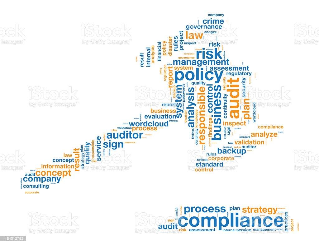 Compliance Word Tag Cloud vector art illustration