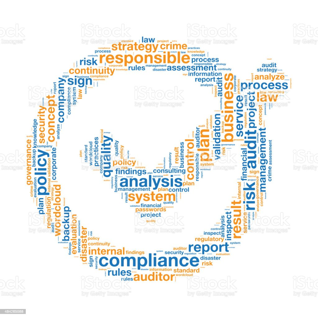 Compliance Word Tag Cloud vector art illustration