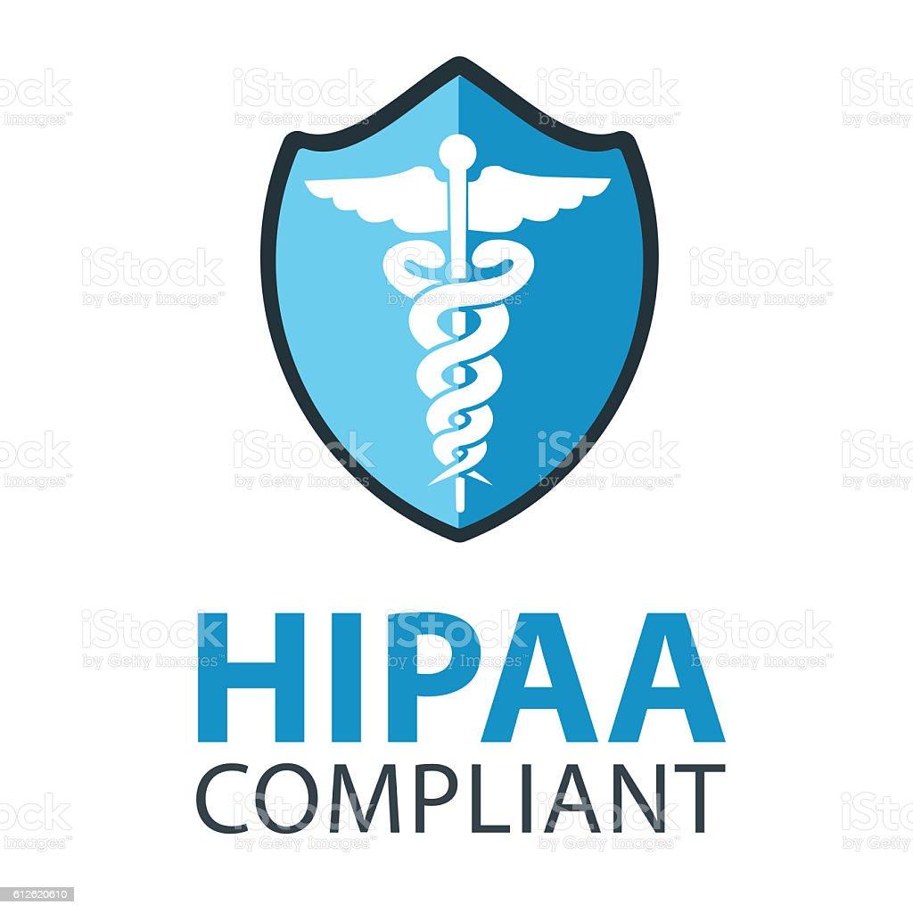 HIPAA Compliant vector art illustration