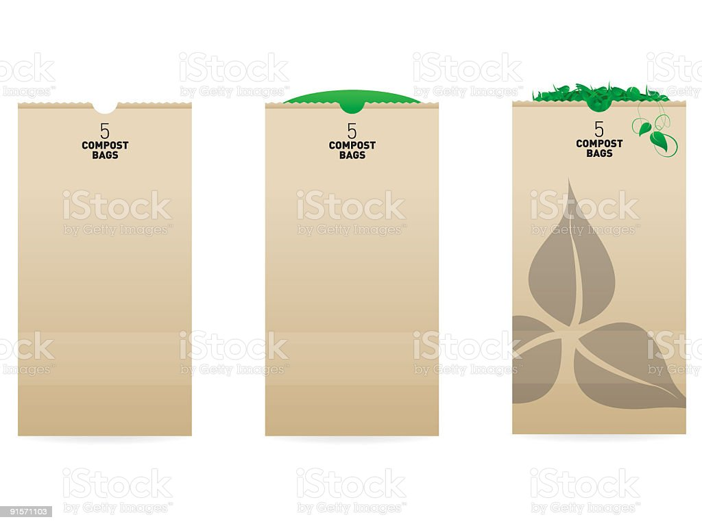 Compost Bag royalty-free stock vector art