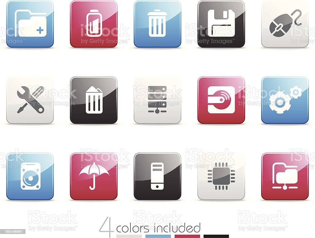 Computer and Hardware icons | Senso series royalty-free stock vector art