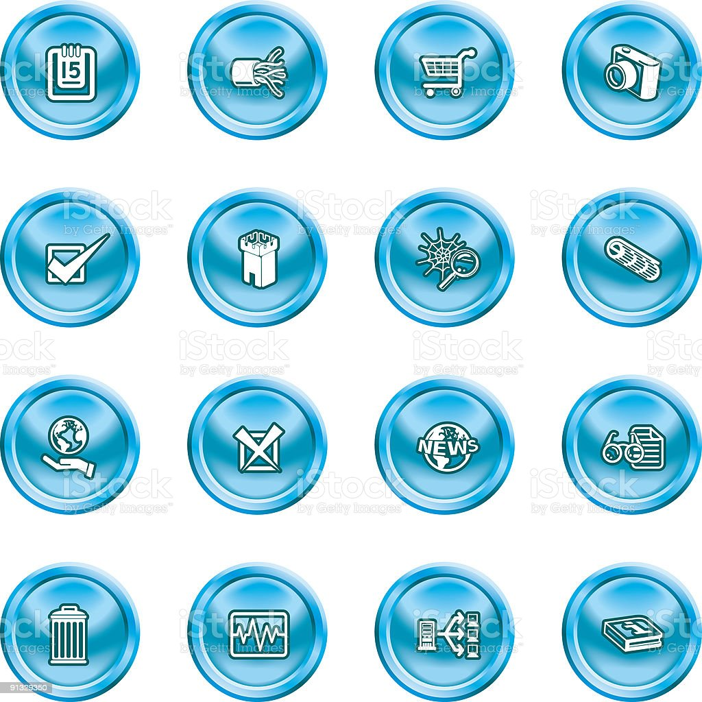 Computer And Web Icons royalty-free stock vector art
