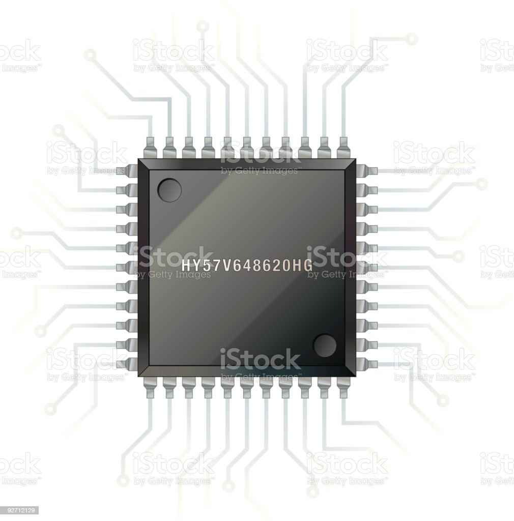 Computer chip (vector) royalty-free stock vector art