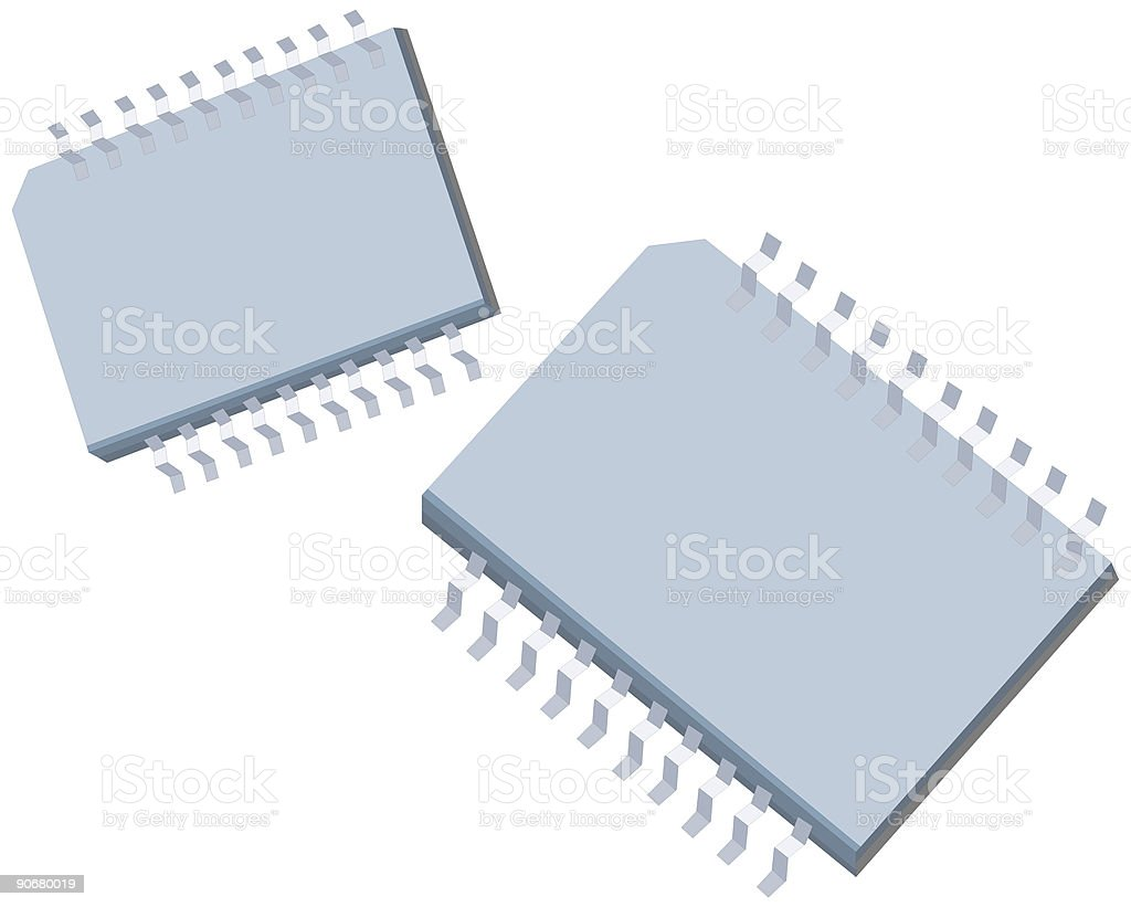 computer chips royalty-free stock vector art