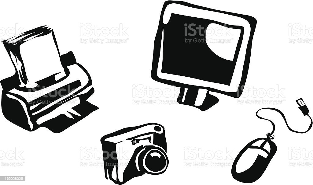 Computer Equipment vector art illustration