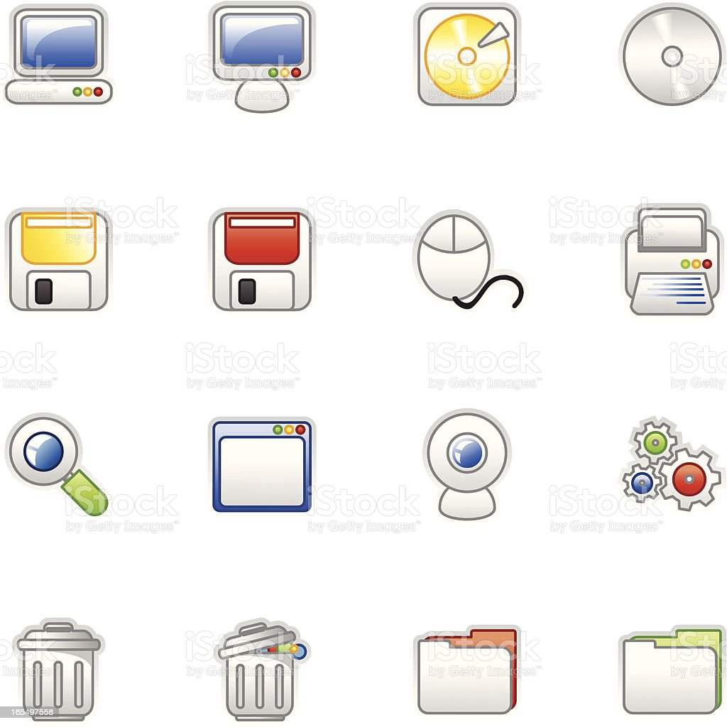 Computer icons (colored series) royalty-free stock vector art