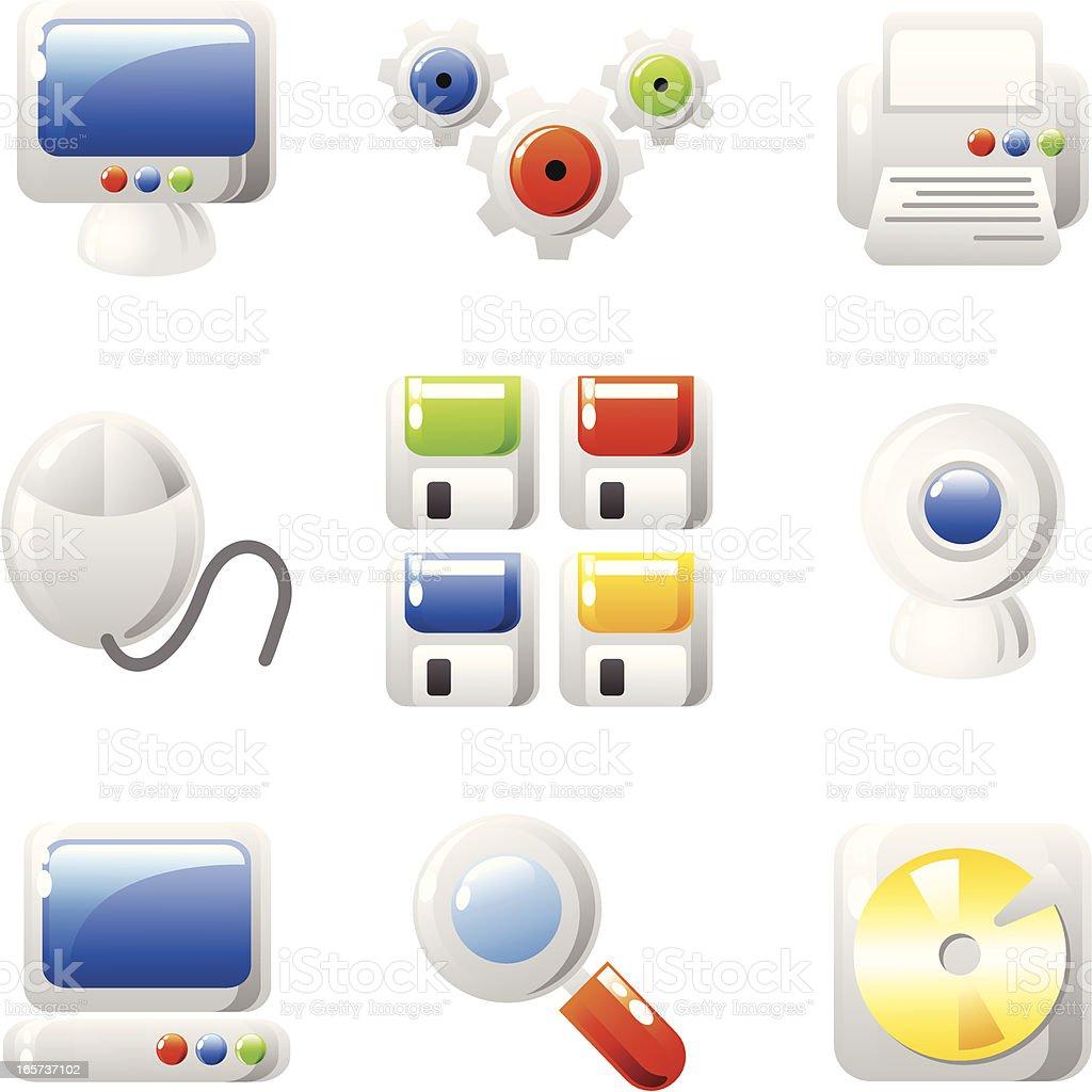Computer icons (shiny series) royalty-free stock vector art