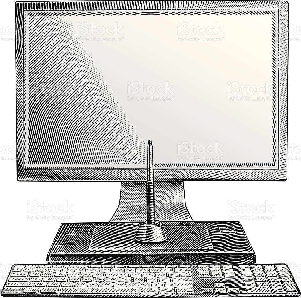 Computer royalty-free stock vector art