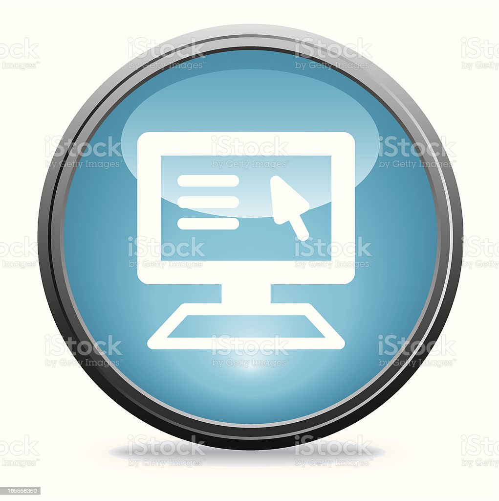 Computer Monitor | Glass Collection royalty-free stock vector art
