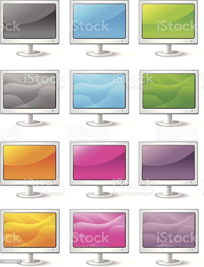 Computer Monitor Icons royalty-free stock vector art
