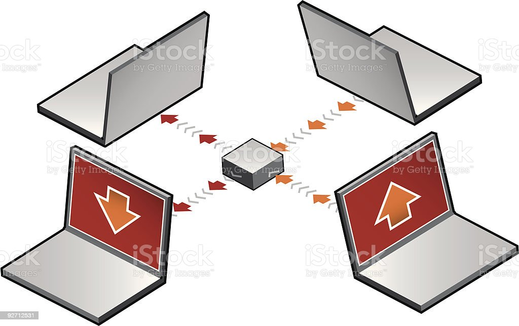 Computer network (vector) royalty-free stock vector art