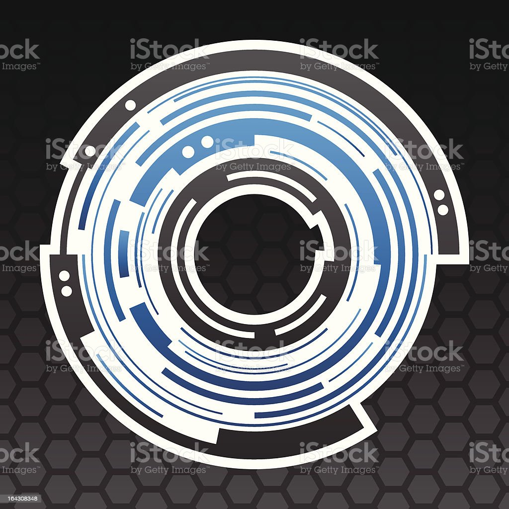 Concentric gear shape icon design royalty-free stock vector art