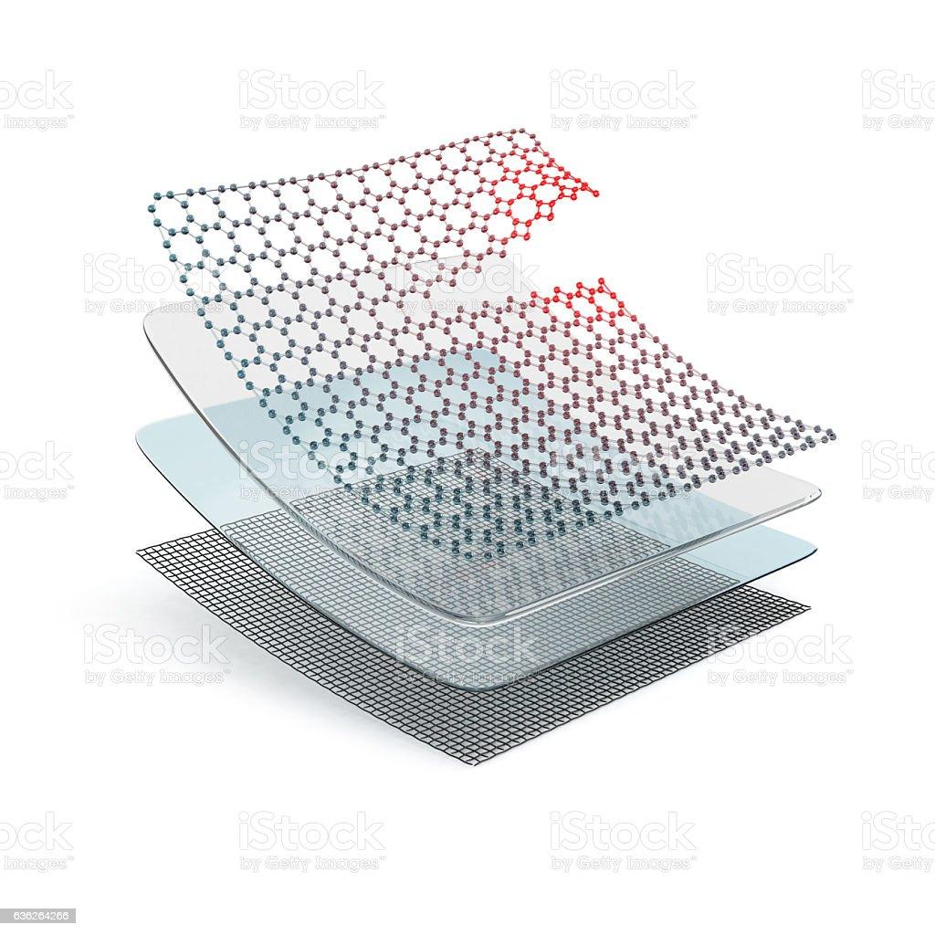 Concept of self-healing material. vector art illustration