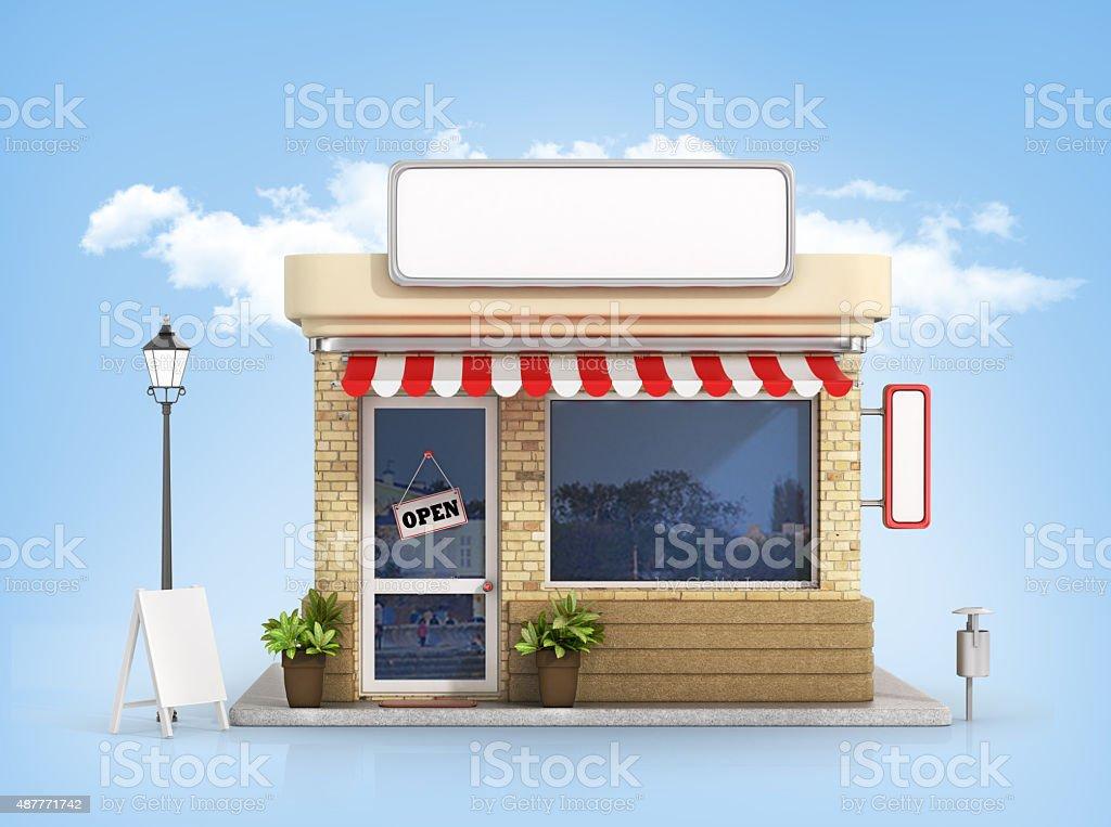 Concept of shop. vector art illustration