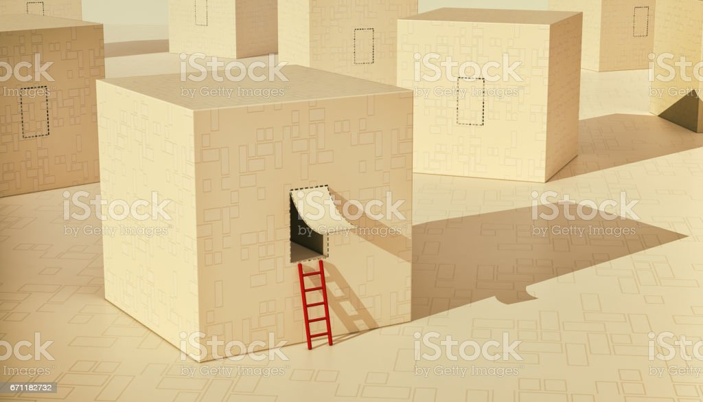 concept of solution or freedom vector art illustration