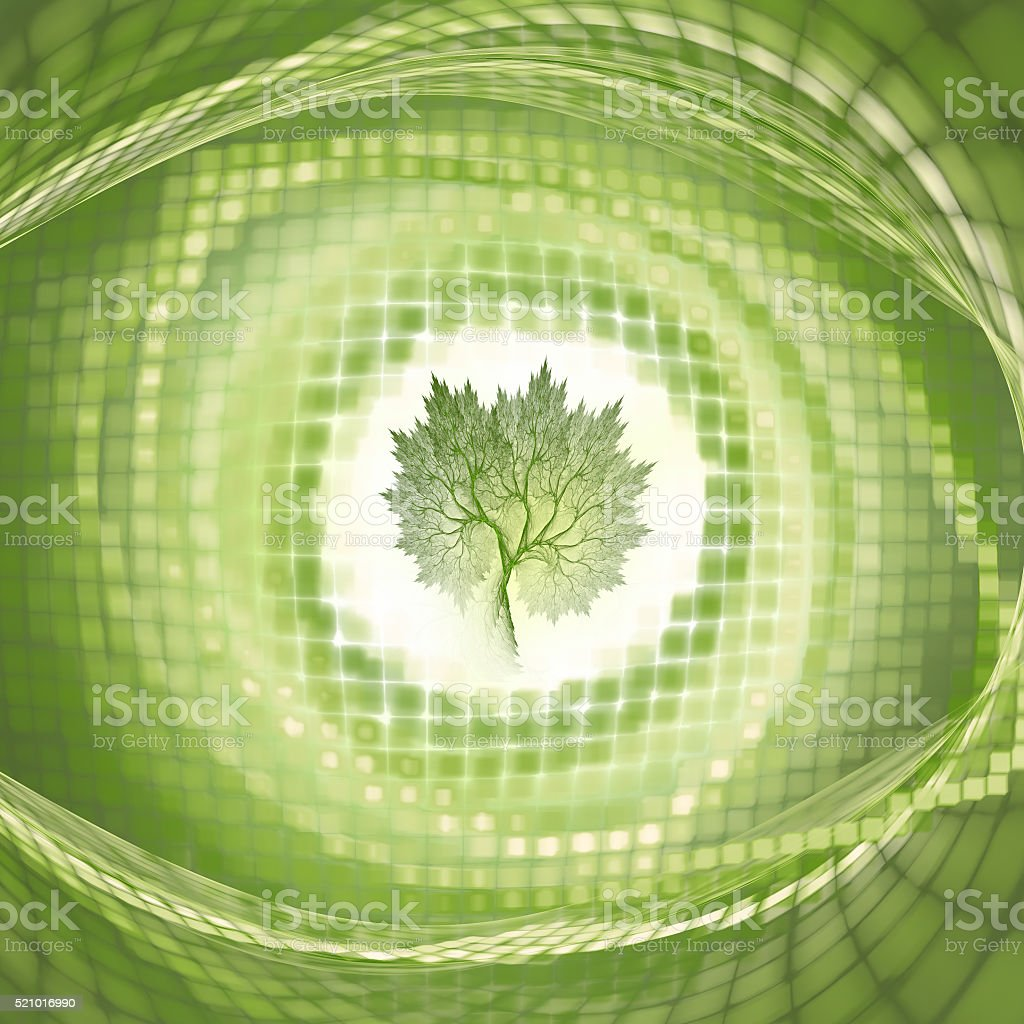 Concept of technology and nature stock photo