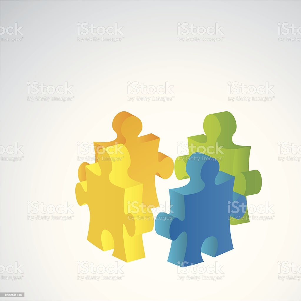 Concepts - Teamwork Puzzle royalty-free stock vector art