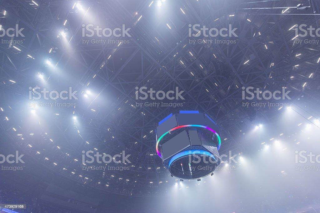 Concert lighting vector art illustration