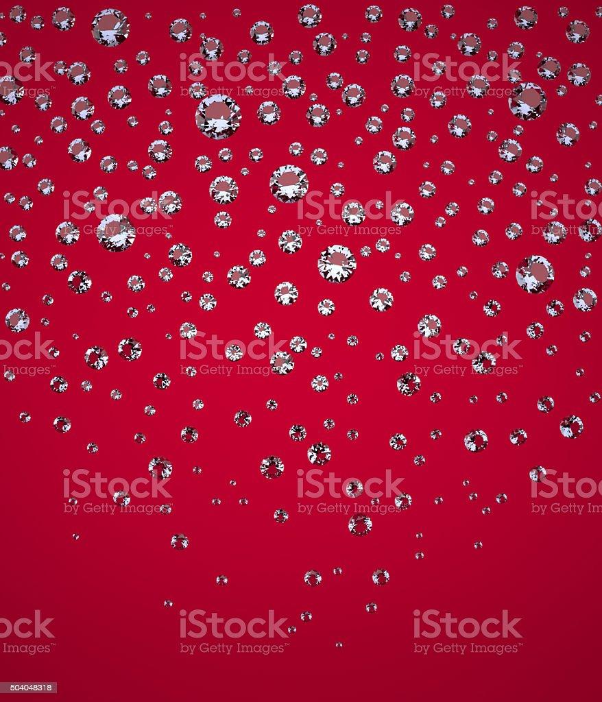 Confetti of Brilliants vector art illustration