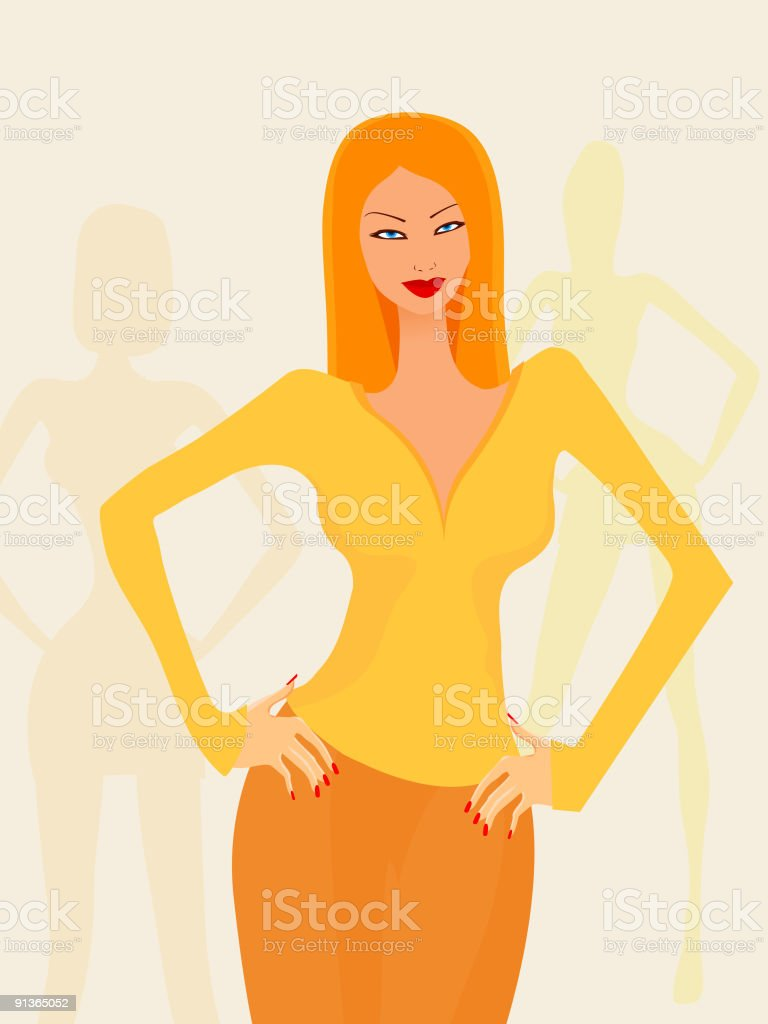 Confident woman royalty-free stock vector art