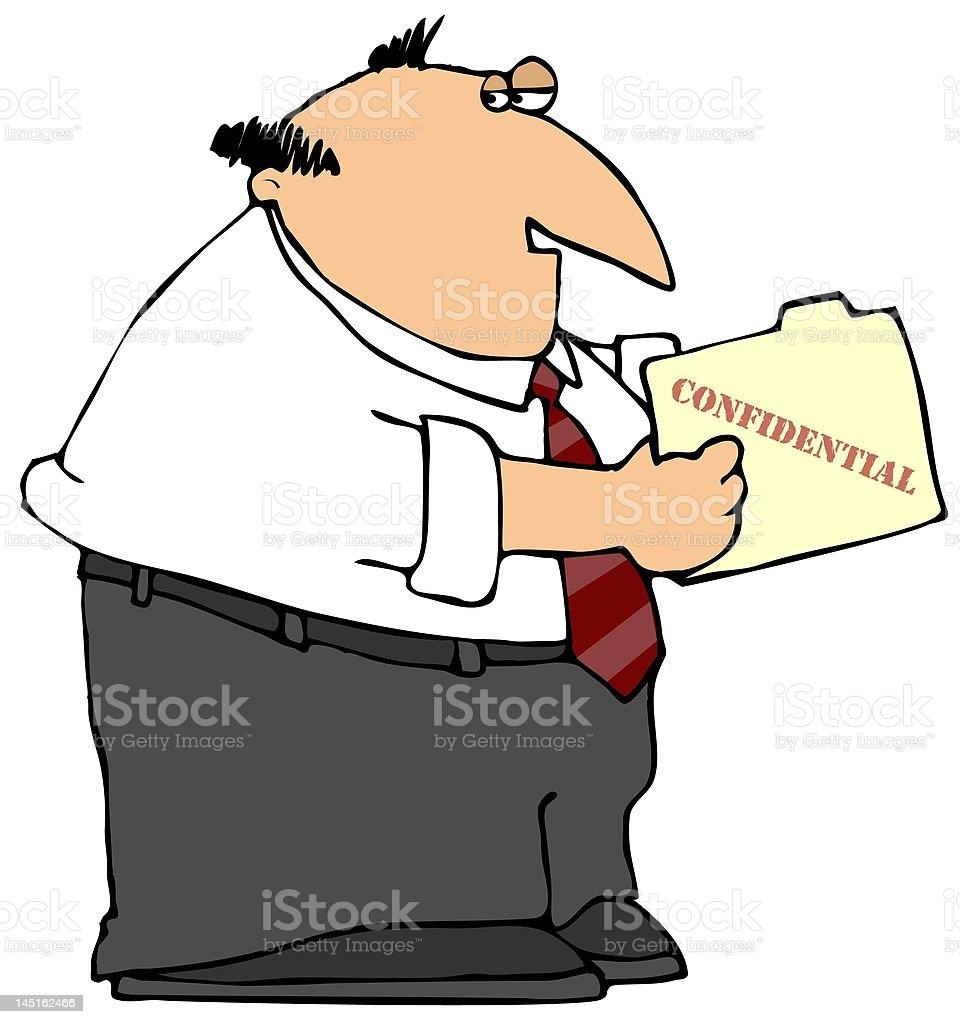 Confidential Folder vector art illustration