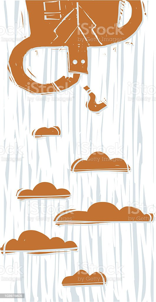 Confused in the clouds royalty-free stock vector art