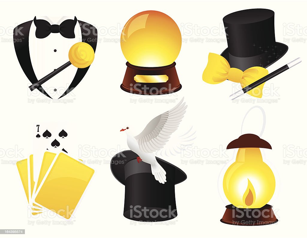 Conjurer icons royalty-free stock vector art