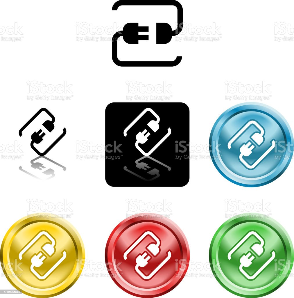 connecting cable plug icon symbol royalty-free stock vector art