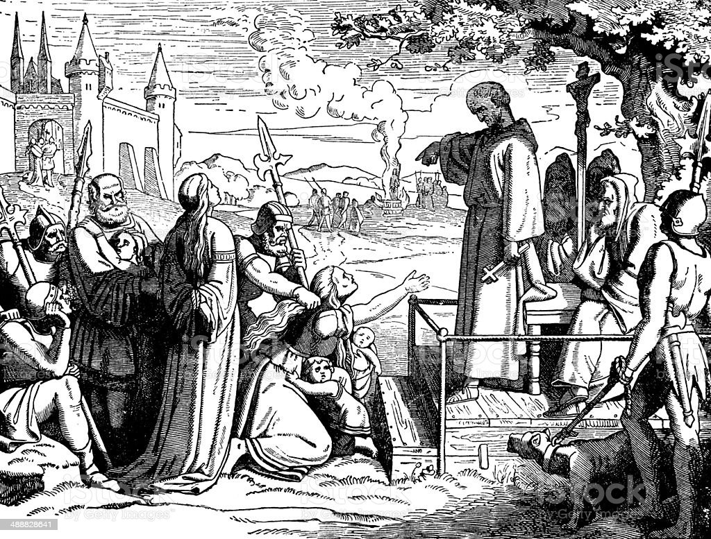 Conrad Of Marburg, The Inquisitor vector art illustration