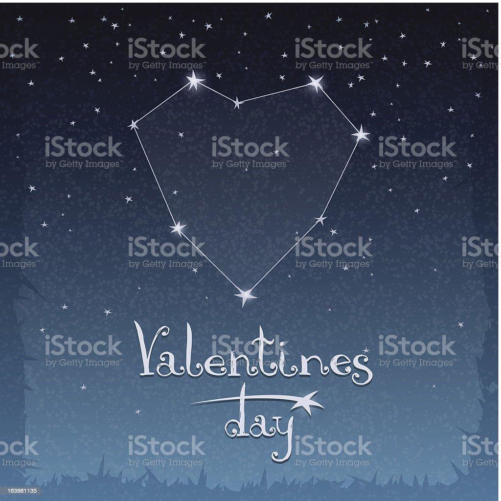 Constellation of love royalty-free stock vector art