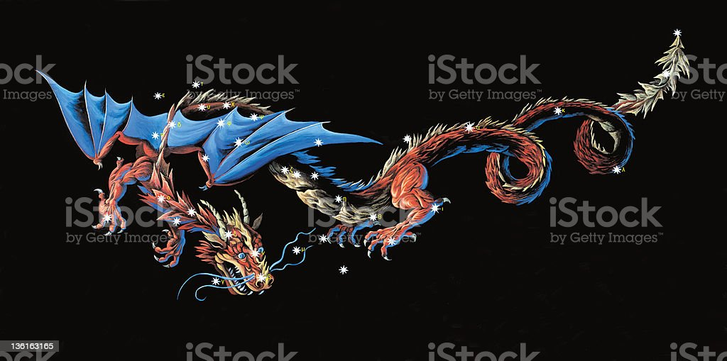 Constellation The Dragon (Draco) royalty-free stock vector art