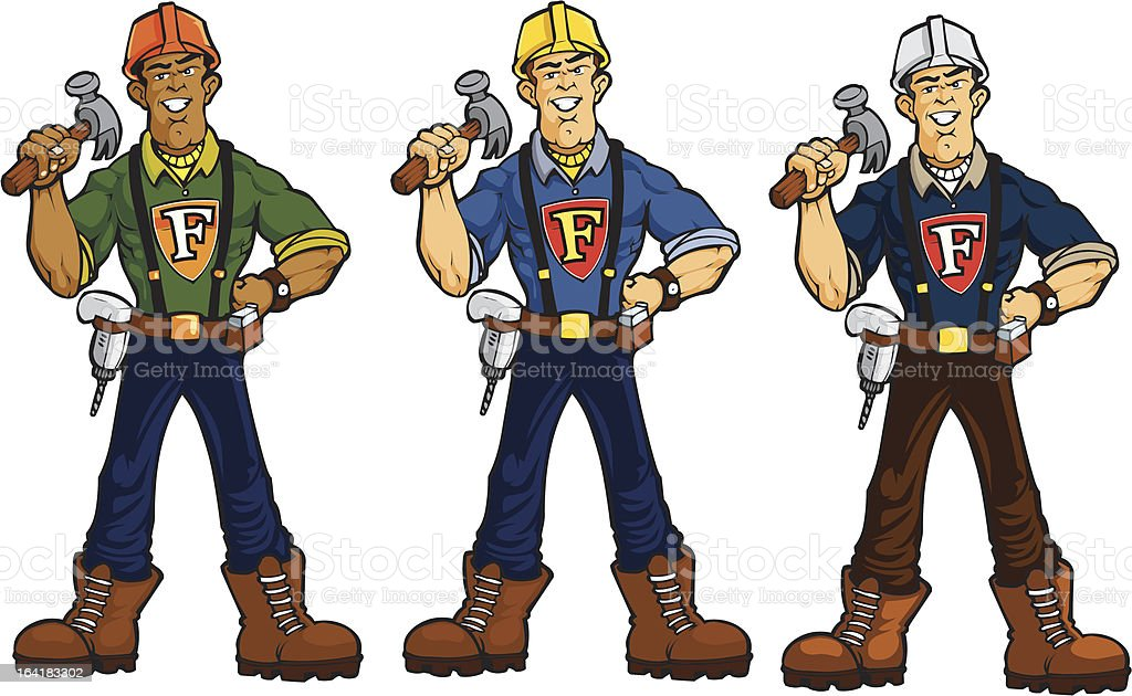 Construction Hero royalty-free stock vector art