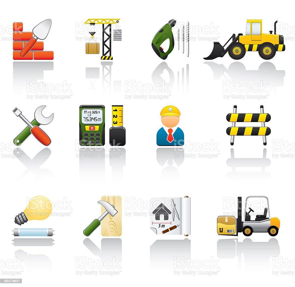 Construction Icon Set royalty-free stock vector art