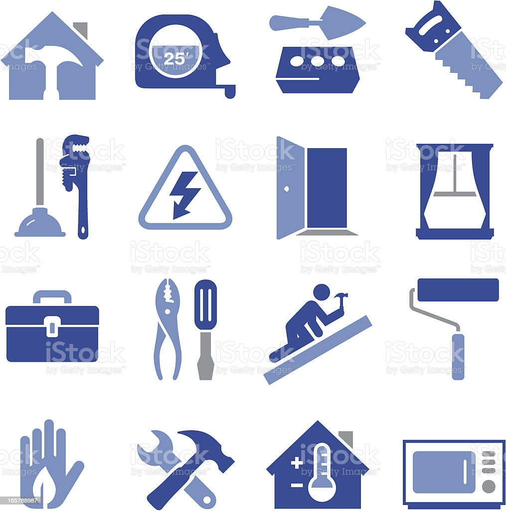 Construction Icons - Pro Series vector art illustration