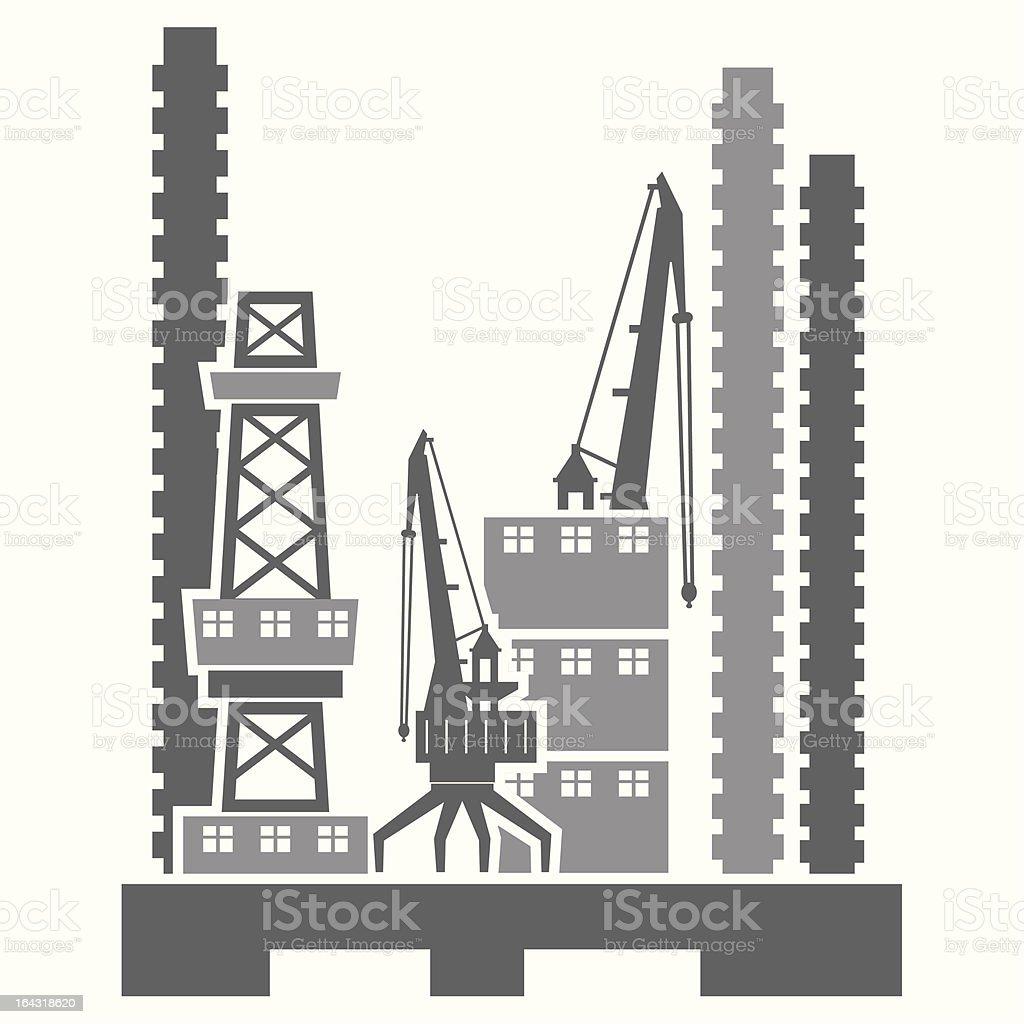 Construction Site Vector Illustration royalty-free stock vector art