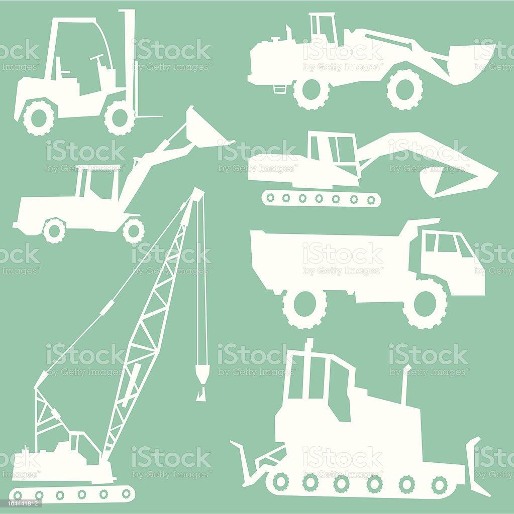 Construction Vehicles royalty-free stock vector art