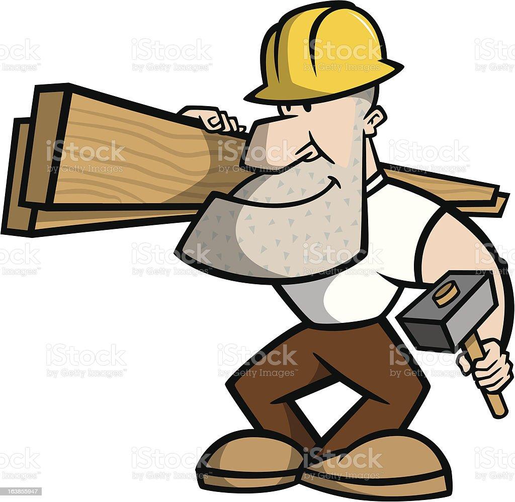 Bauarbeiter bei der arbeit comic  Bauarbeiter Comicfigur Vektor Illustration 163855947 | iStock