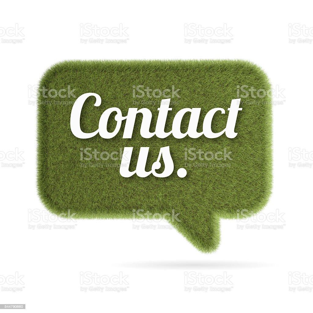 Contact us grass speech bubble vector art illustration