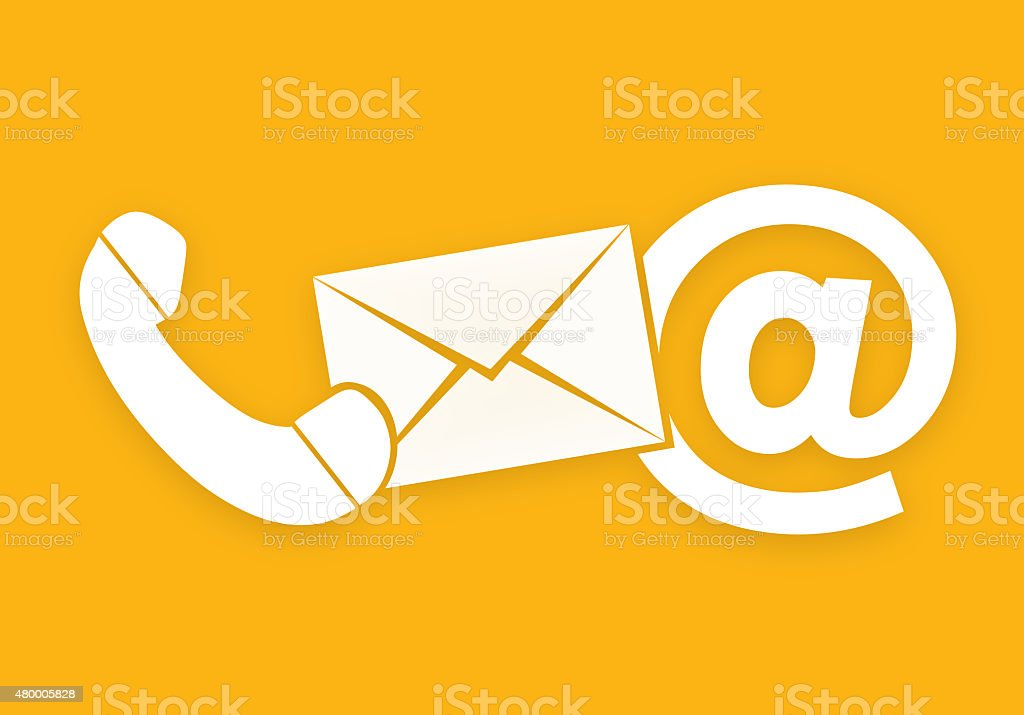 Contact Us Icons vector art illustration