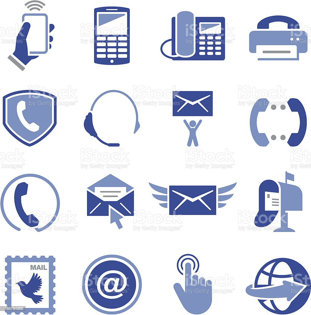 Contact Us Icons - Pro Series vector art illustration