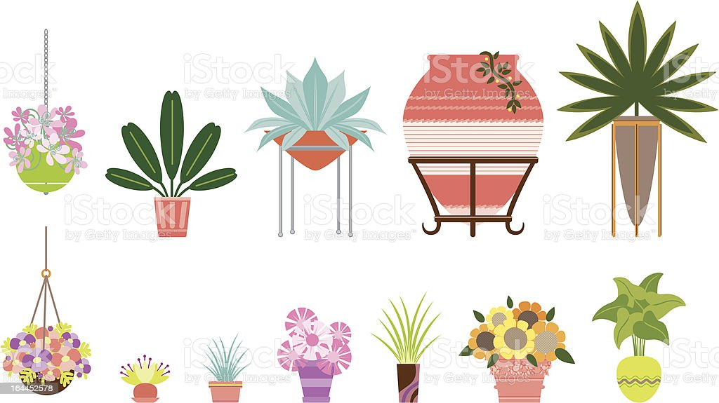 Container Gardening royalty-free stock vector art