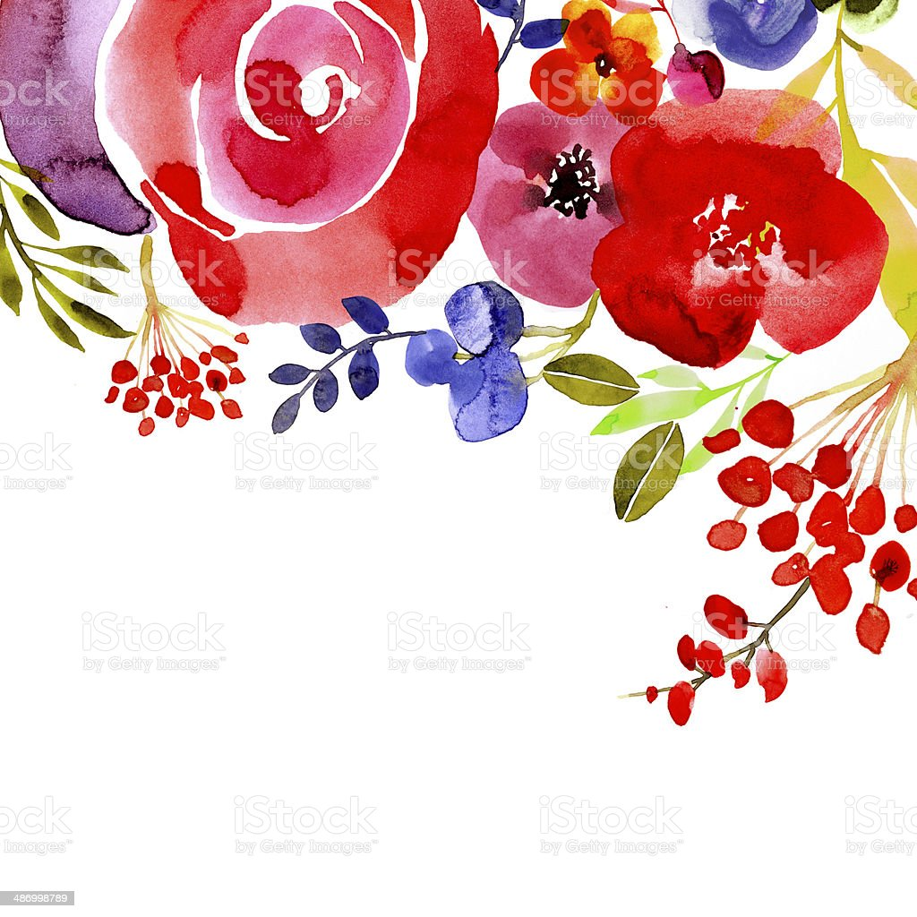 Contemporary floral background with room for text vector art illustration