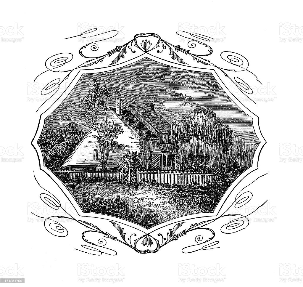 Continental Army Headquarters at Brandywine | Historic American Illustrations vector art illustration