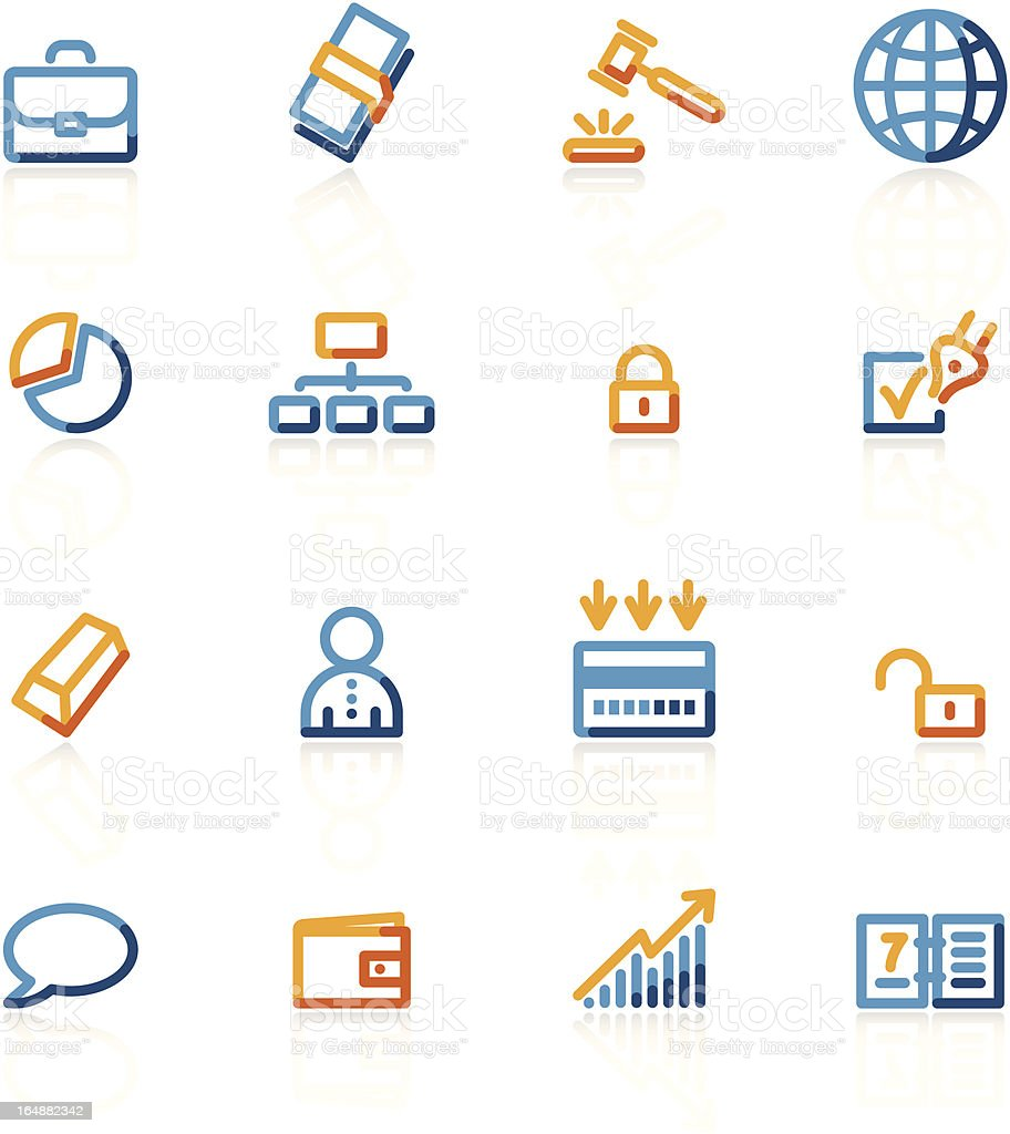 contour business icons royalty-free stock vector art