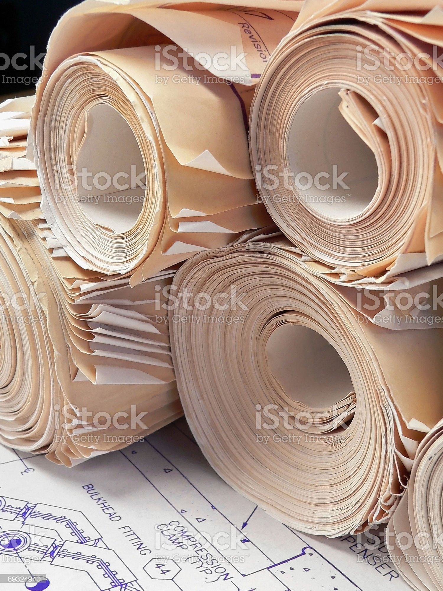 Contractor's Office royalty-free stock vector art