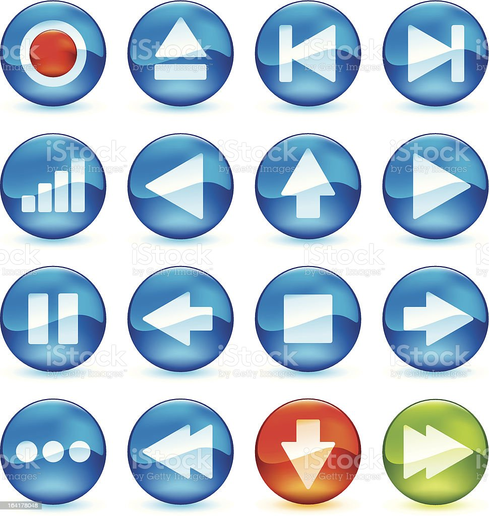 control icon set royalty-free stock vector art
