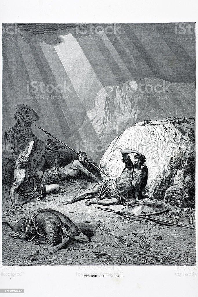 Conversion of Saint Paul vector art illustration