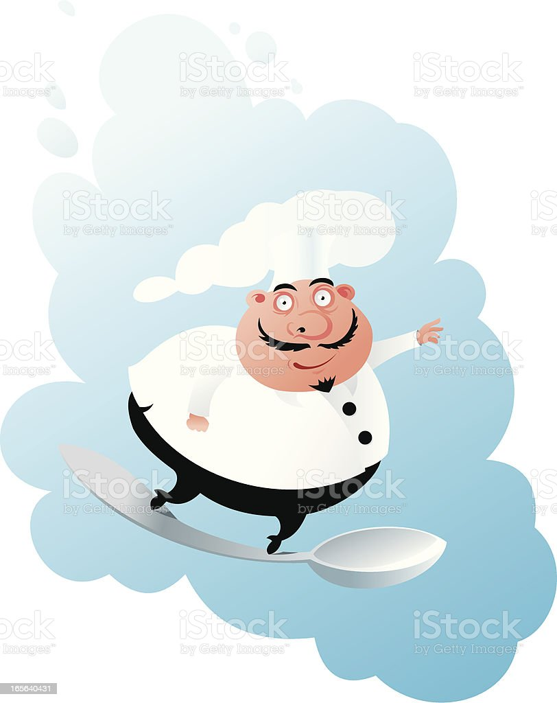 cook on the spoon royalty-free stock vector art