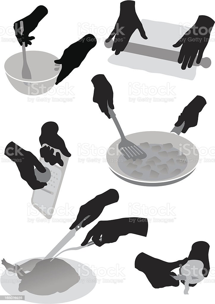 Cookery silhouettes vector art illustration