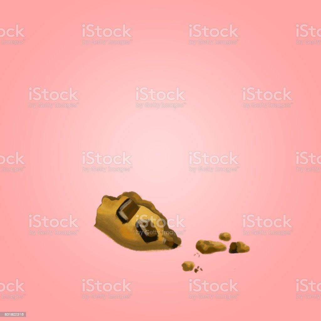 Cookie Crumbs vector art illustration